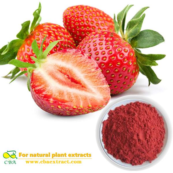 Strawberry fruit extract powder